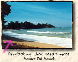 One of West Java's most beautiful beaches