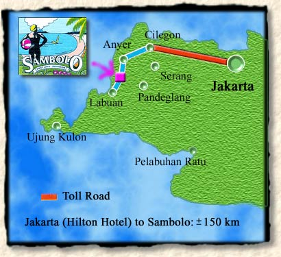 How to get to Sambolo Beach Bungalows from Jakarta