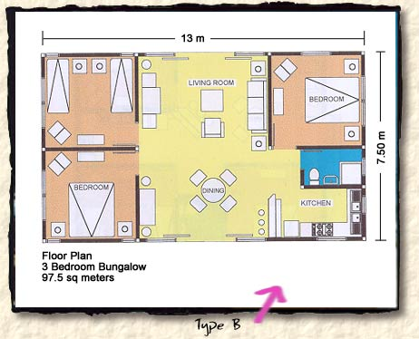 floor plan of 3 bedroom bungalow thefloors co. Black Bedroom Furniture Sets. Home Design Ideas
